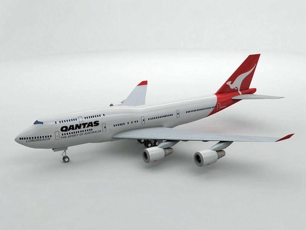 Boeing 747-400 Airliner - Qantas Airlines