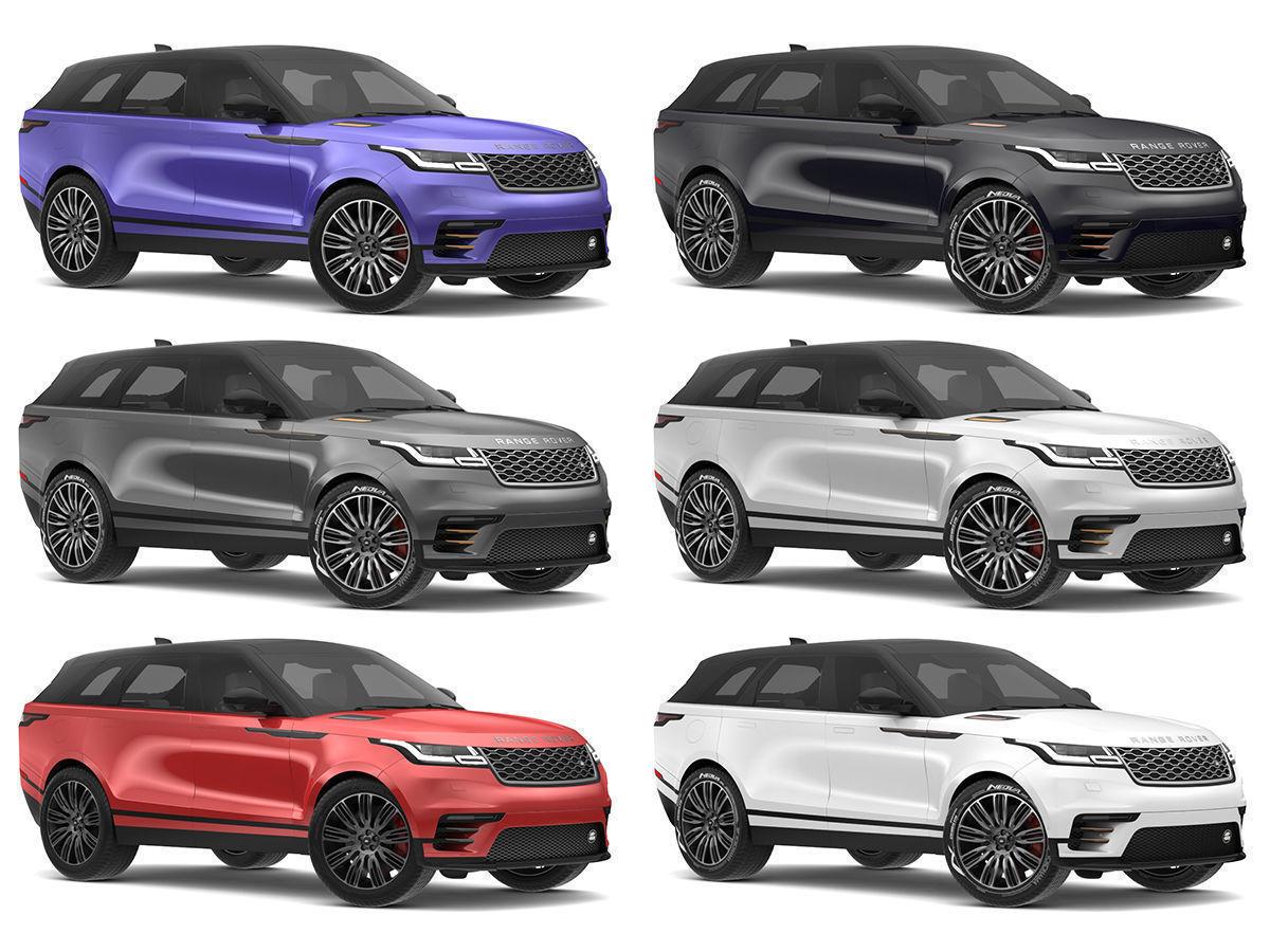 Land Rover Models >> 2018 Land Rover Range Rover Velar All Colors 3d Model