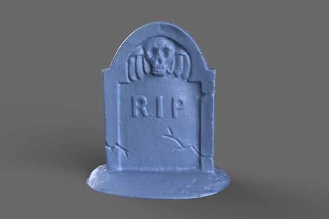 tombstone miniature 2 3d model obj mtl 1