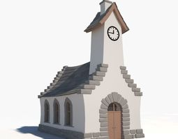 3D model Church Cartoon