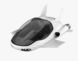 Hover car concept 3D
