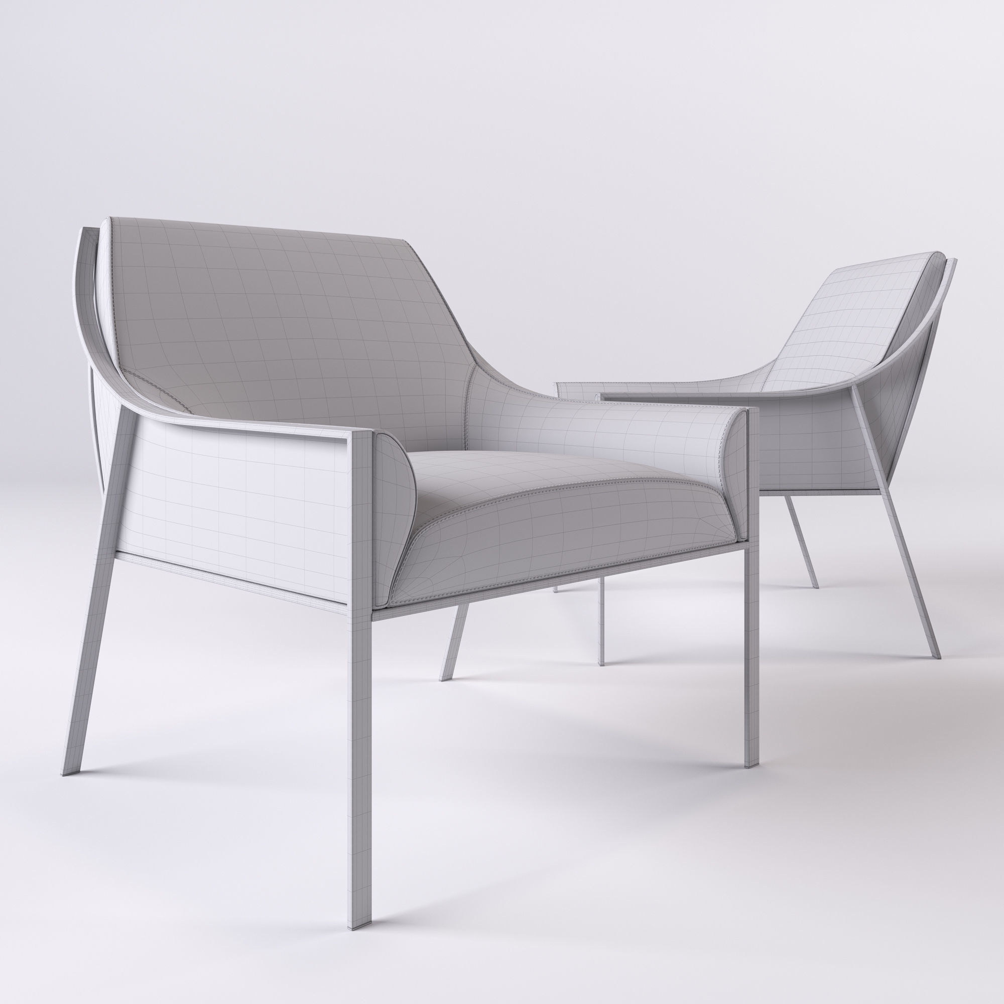 ... Holly Hunt Aileron Occasional Chair 3d Model Max Obj Fbx 3