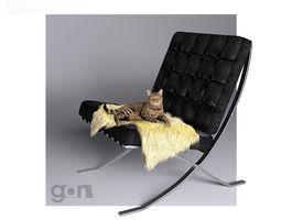 Barcelona Chair 3D living-room