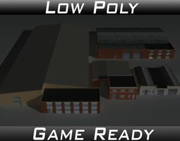 Factory Building Set 6 3D asset