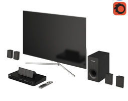 3D Samsung TV QLED Home Cinema Blu-ray 2