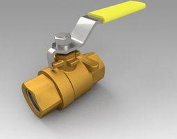3D model Ball valve fitting