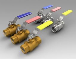 Ball valve collection 3D model