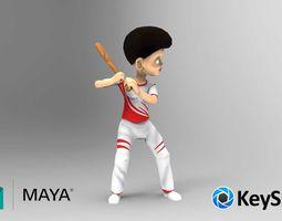 Baseball Player 3d Model animated