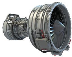 CFM56 Turbofan Aircraft Engine 3D