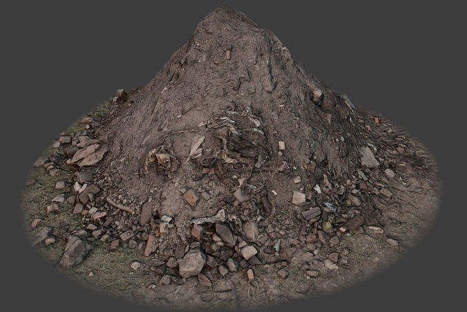 garbage pile 3d model low-poly max obj fbx tga 1