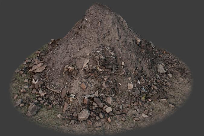 garbage pile 3d model max obj fbx tga 1