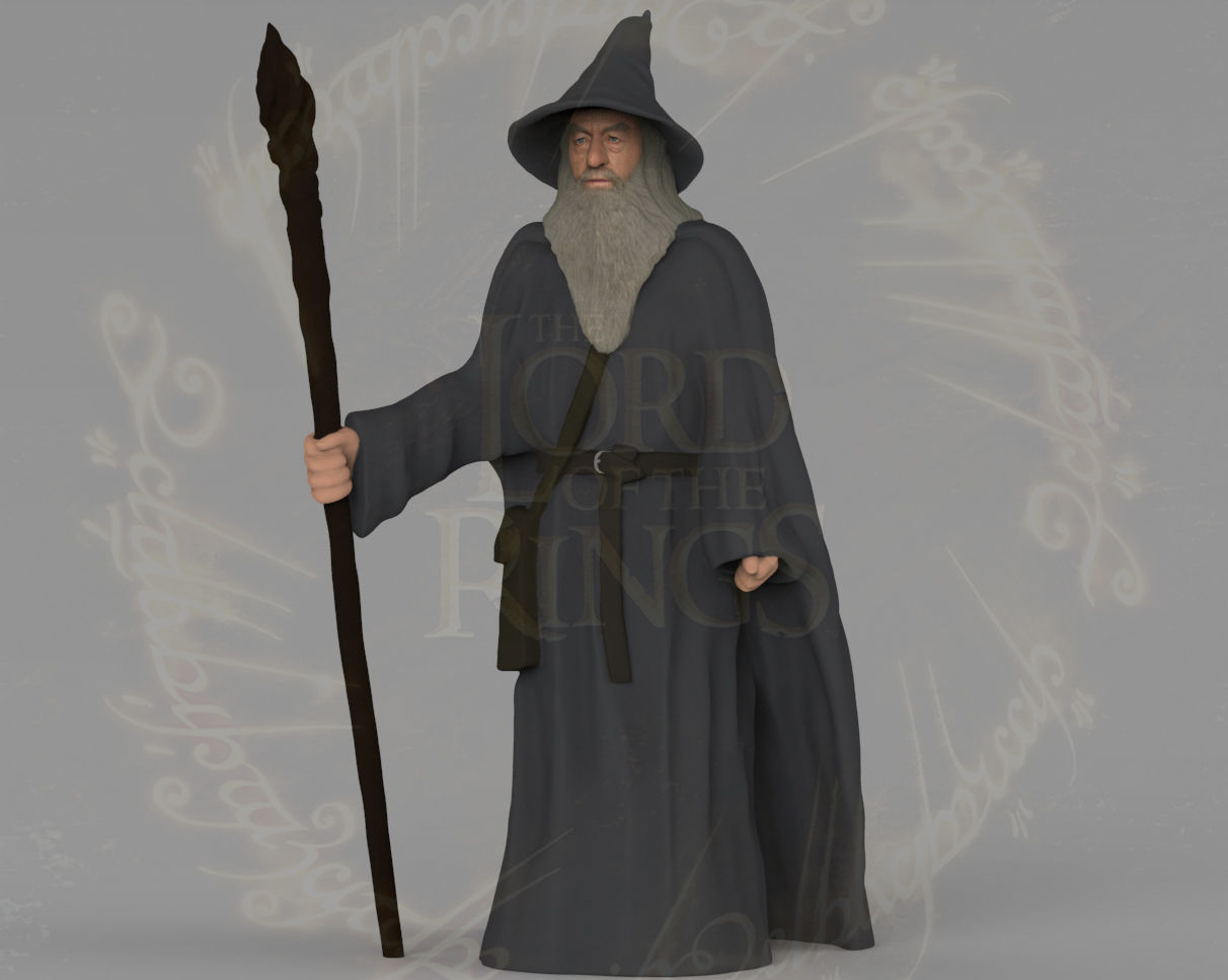 Gandalf the Lord of the Rings Hobbit full color 3D printing