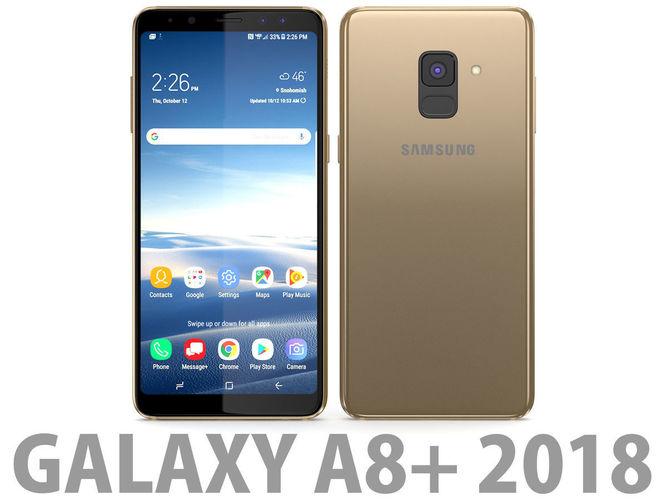 Samsung Galaxy A8 Plus 2018 Gold 3d Model Cgtrader