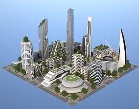 3D asset Belfort City