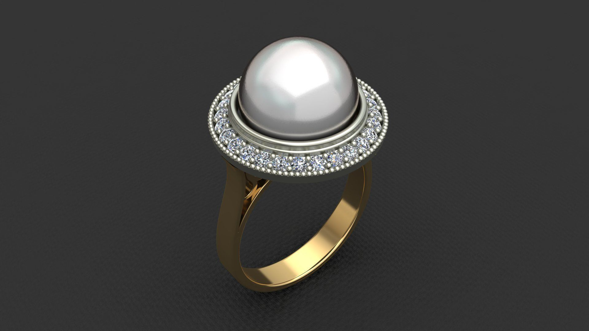 WHITE PEARL WOMAN RING