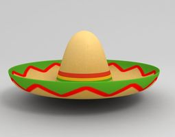 Mexican Hat 3D asset