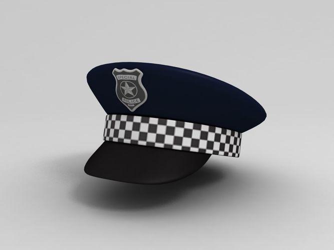 fa52e68aedc police hat 3d model low-poly max obj mtl fbx 1 ...