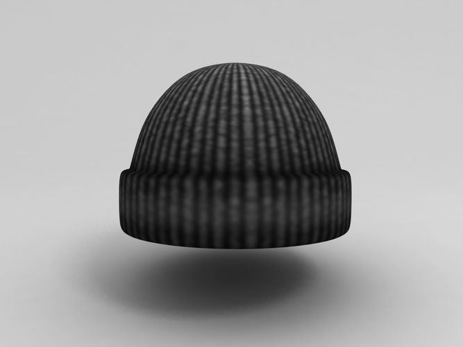 wool hat 3d model low-poly max obj fbx mtl 1