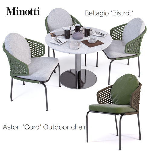 aston cord outdoor chair  and bellagio bistrot tabel 3d model max obj mtl fbx 1