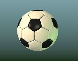 basketball Soccer ball 3D model low-poly