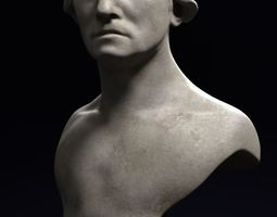 George Washington marble bust sculpture statue 3D model