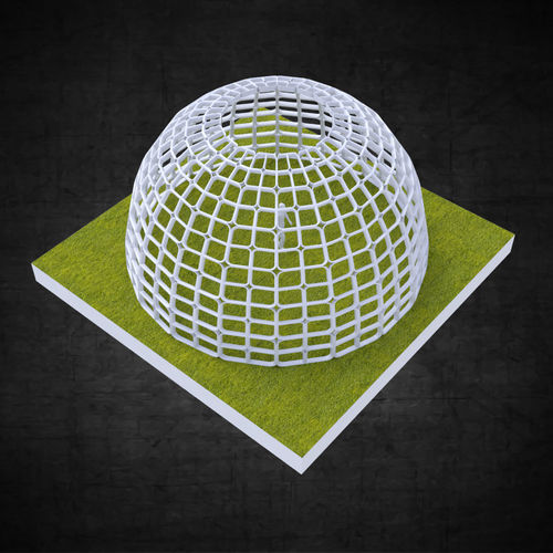 Dome structure rectangular panels geodesic style architecture