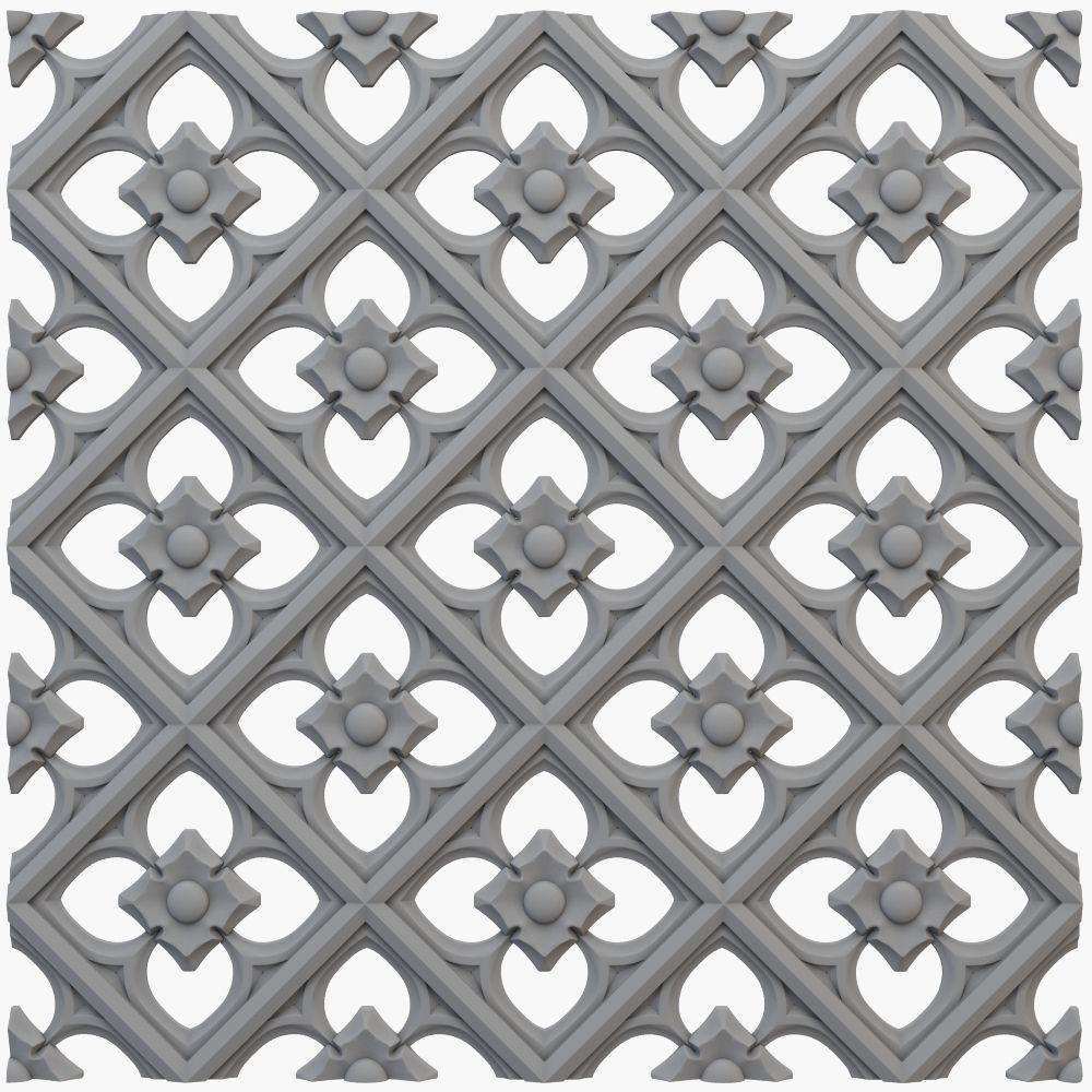 Gothic pattern cnc
