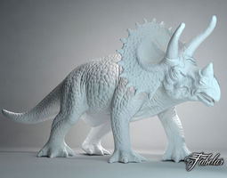 game-ready triceratops free 3d model