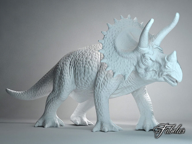 triceratops free 3d model max obj 3ds fbx c4d dae 1