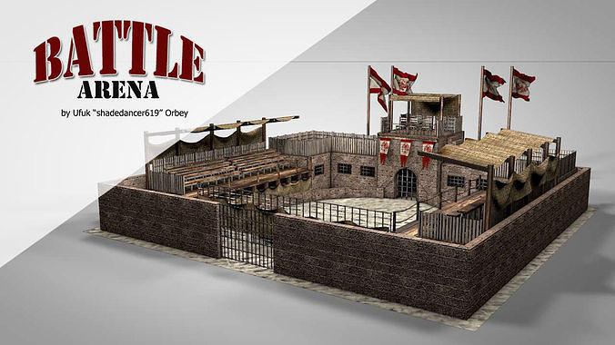 battle arena 3d model obj mtl 3ds fbx c4d dae 1