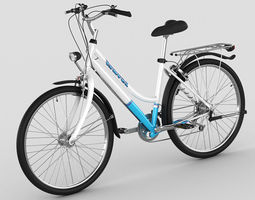 3d generic woman s bicycle