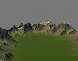 3D model terrain mossy