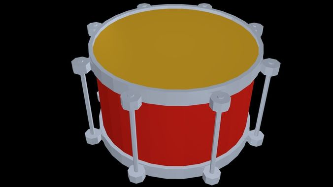Low poly drum