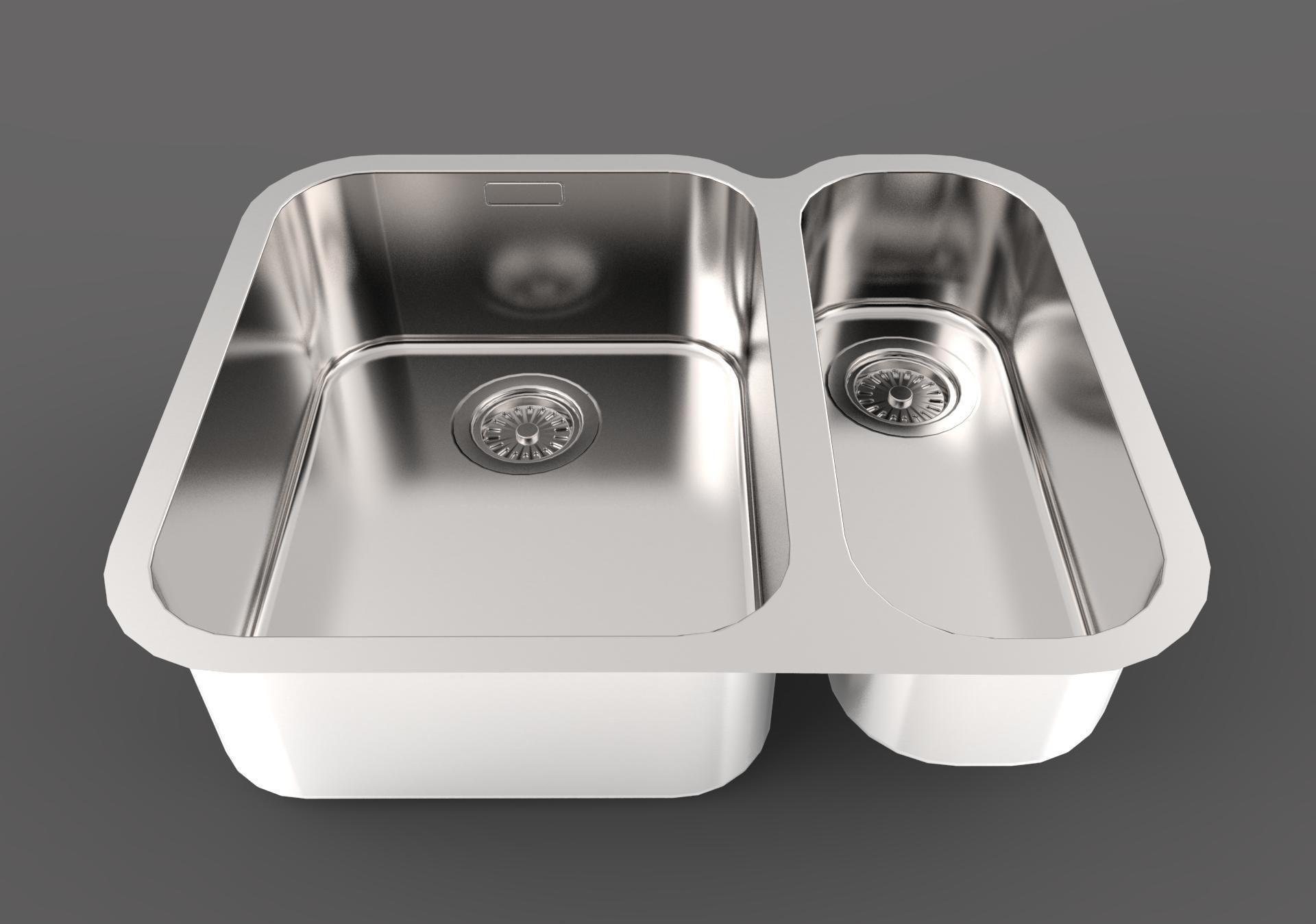 Franke Ariane Arx 160 D Built In Sink 3d Model Max Obj 3ds Fbx C4d Dae ...