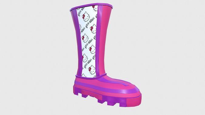 boots harmony 3d model low-poly obj mtl 3ds fbx blend 1