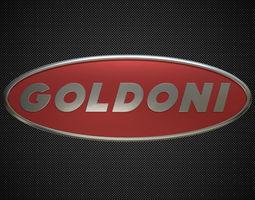 goldoni logo 3D model