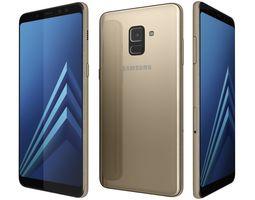 3D Samsung Galaxy A8 2018 Plus Gold