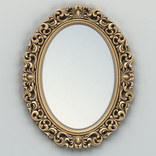 Oval Mirror Frame 001 3d Cgtrader