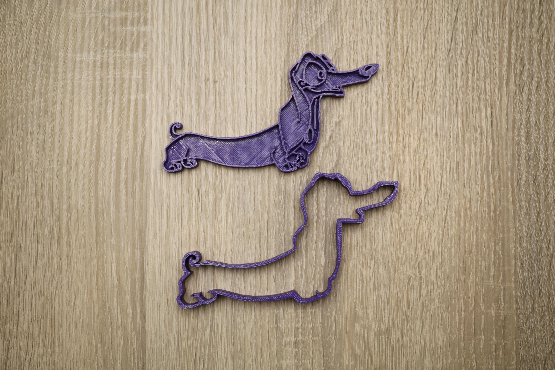 Cookie form dog dachshund 3