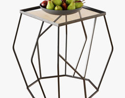 Quirin angled side table 3D model