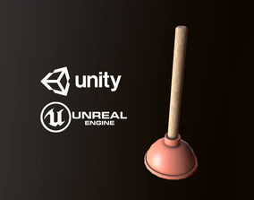 Plunger - PBR Game Ready 3D model game-ready
