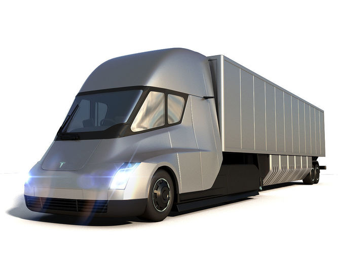 Tesla Semi Truck Elon Musk >> 3D Tesla Semi Truck | CGTrader