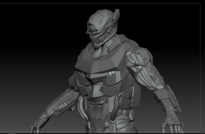 Cyborg Soldier V2 highpoly Zbrush 4r7