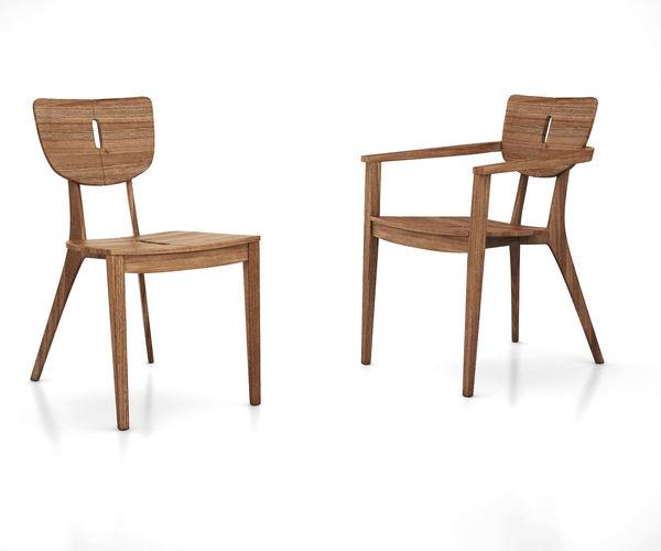 DIUNA  Teak chair and armchair by Oasiq