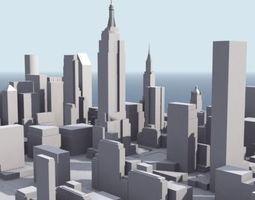 Stylised Manhattan 3D asset