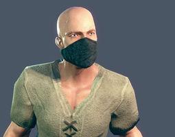 Basic Bandit 3D model rigged