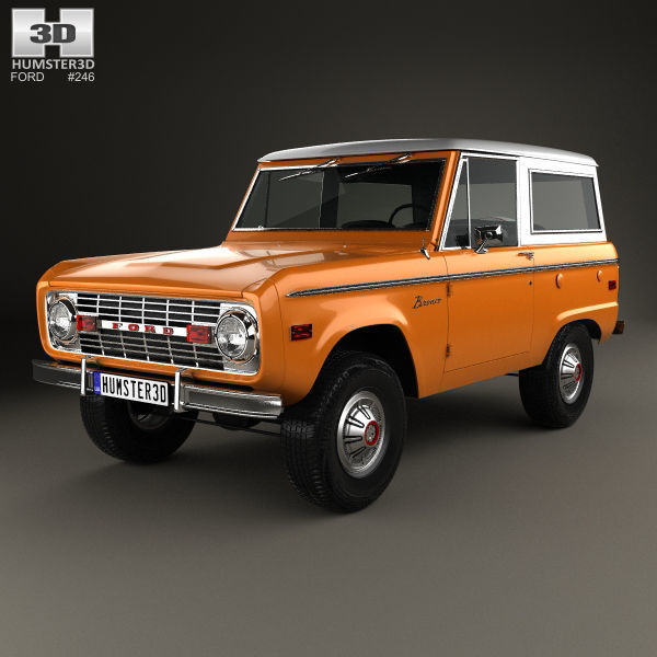 Ford Bronco 1975 3d Model Max Obj 3ds Fbx C4d Lwo Lw Lws 1