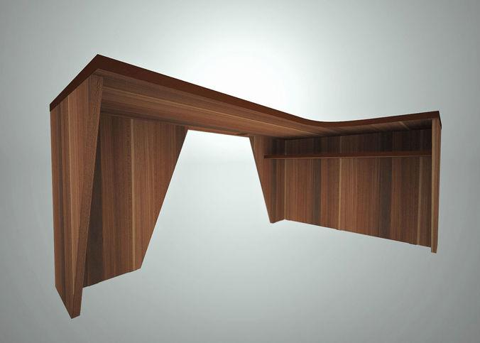 Office corner table 3d asset cgtrader corner table 3d model obj 3ds c4d 1 watchthetrailerfo