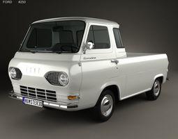 Ford E-Series Econoline Pickup 1963 pickup 3D