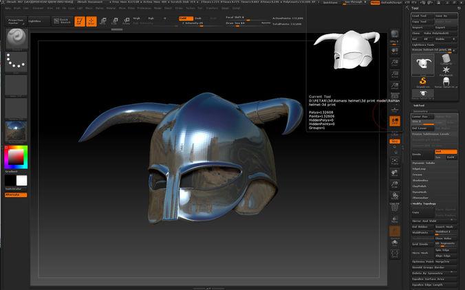 viking helmet-3d print model 3d model max obj mtl stl ztl 1
